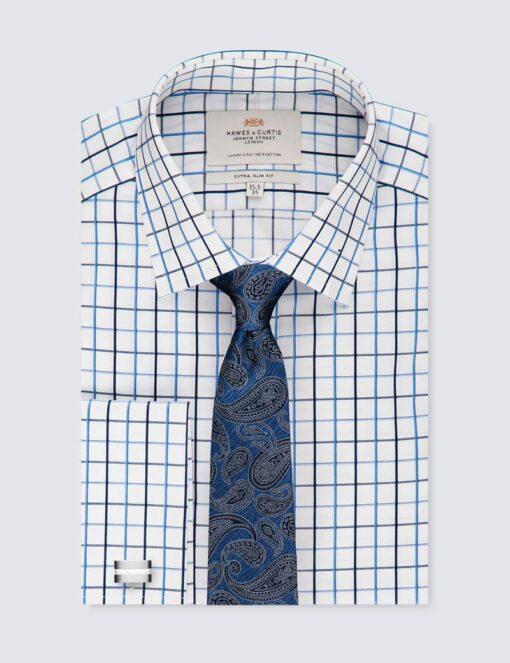 پیراهن مردانه چهارخانه ریز آرو