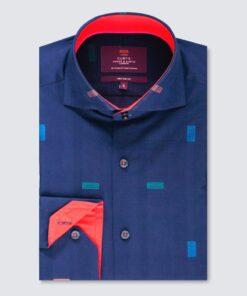 پیراهن طراحی شده آبی و قرمز