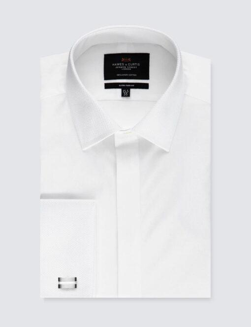 پیراهن سفید سر دکمه