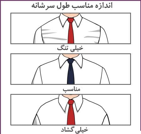اندازه گیری سرشانه پیراهن مردانه
