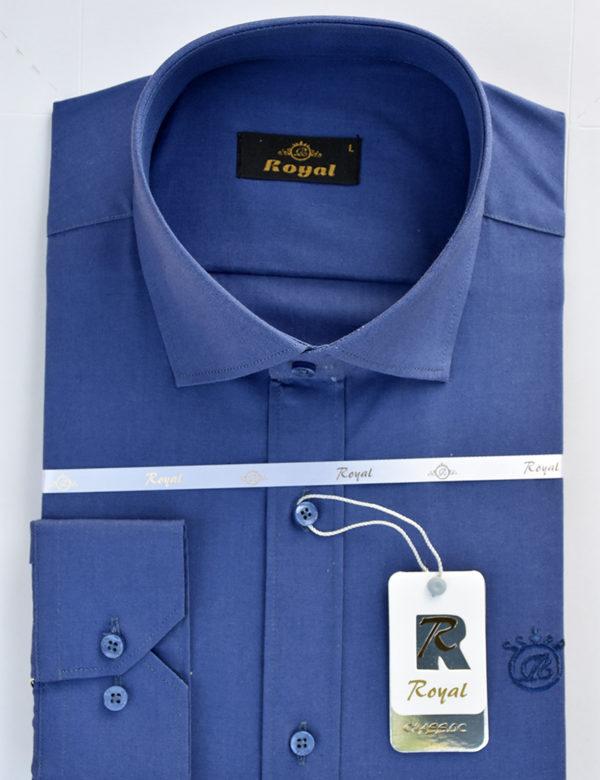 پیراهن کتان مردانه آبی
